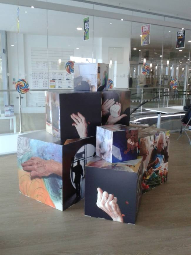 Photo cubes of art work from the Dementia and Imagination  project in the North East