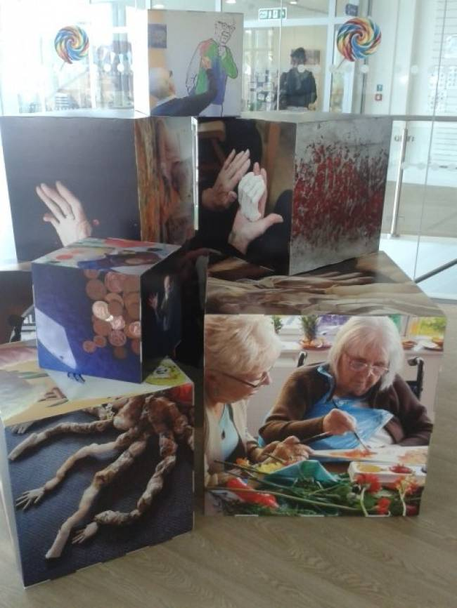 Cube -Dementia and Imagination art installation